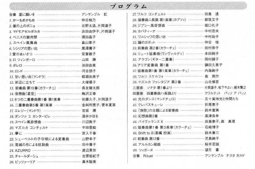 第45回発表会ハガキ(中身)