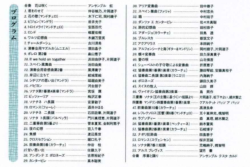 第46回発表会はがき(内容)